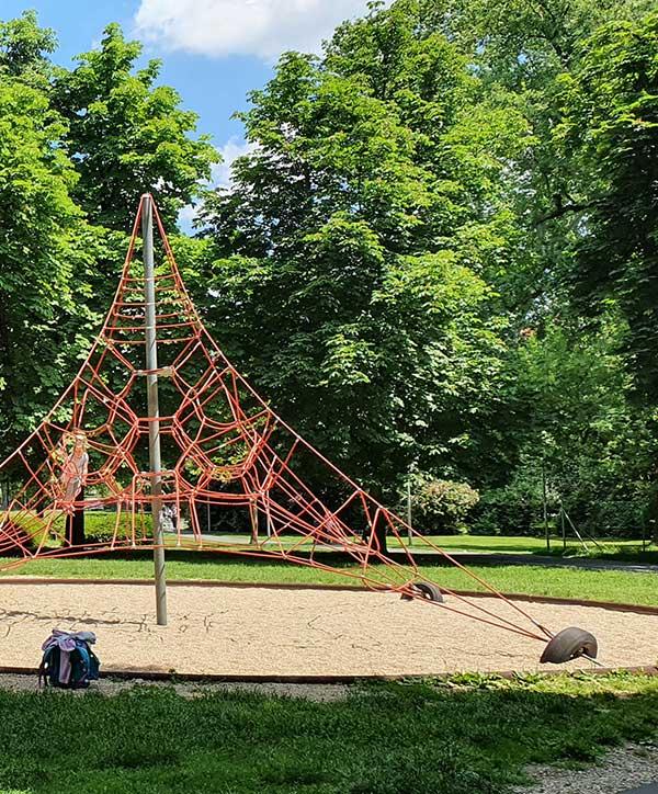 Der Spielplatz im Augarten